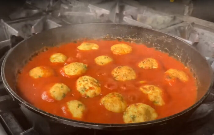 Meatless balls with Bread, Eggs & cheese